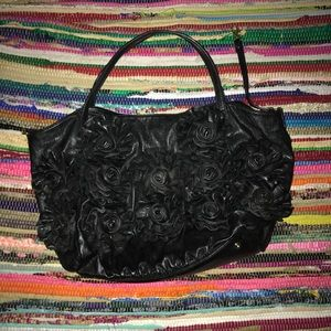 Big Buddha Slouchy Bag with 3D Flower Accents